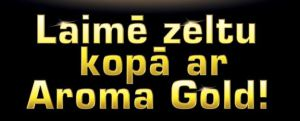 Aroma Gold teksta bilde