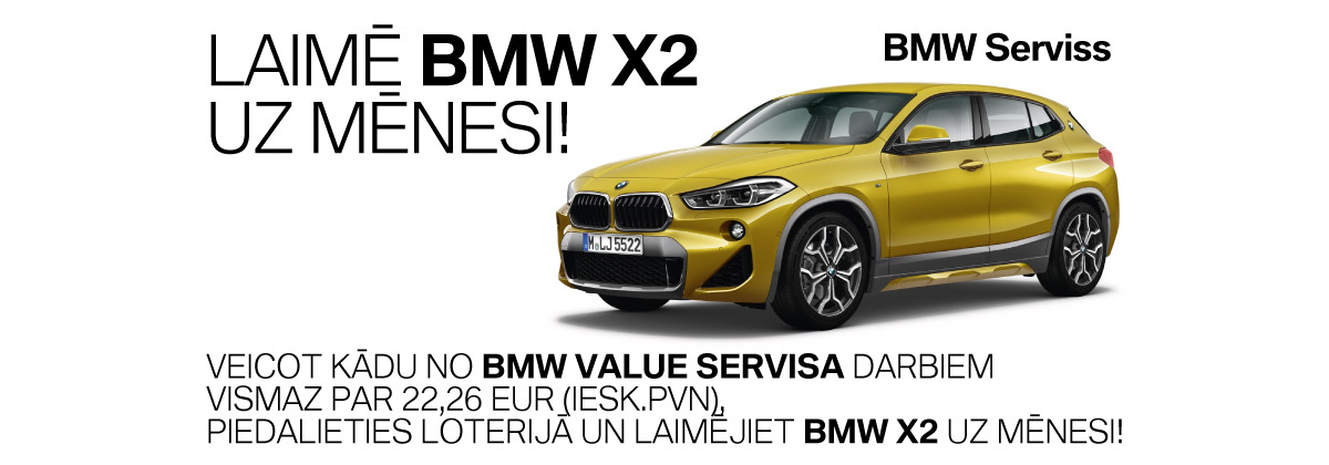 BMW Value servisa loterija