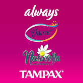 Always, Naturella, Tampax, Discreet