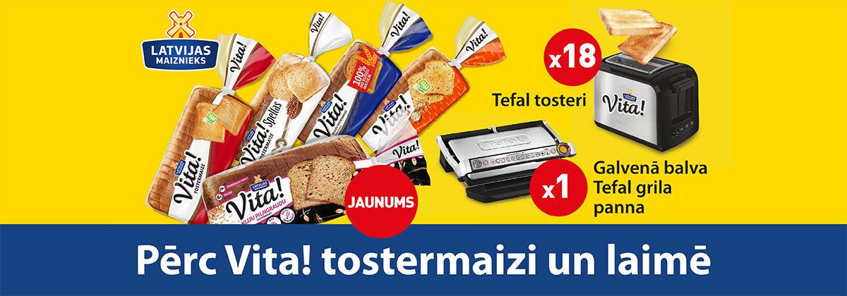 Pērc tostermaizi Vita! un laimē!