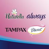 Always, Naturella, Tampax, Discreet