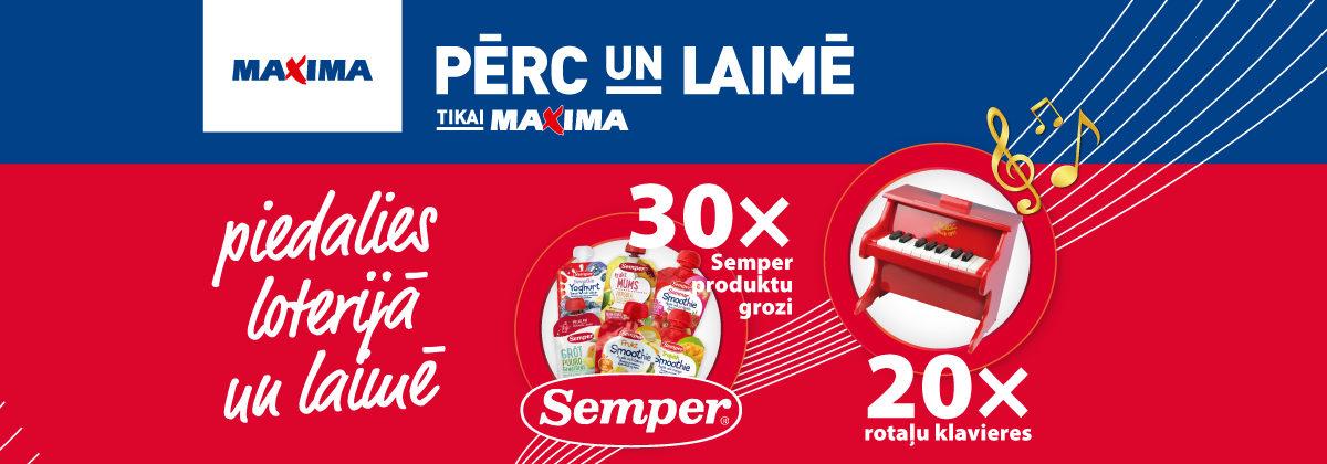 SEMPER loterija veikalos Maxima