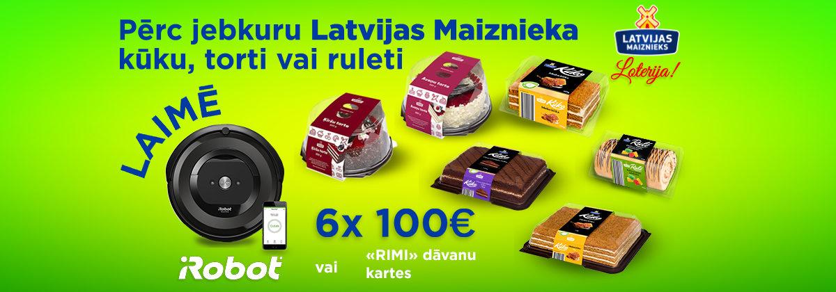 Latvijas Maiznieka kūkas, tortes, ruletes loterija