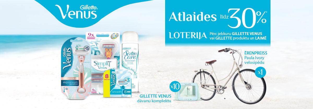 Venus un Gillette loterija