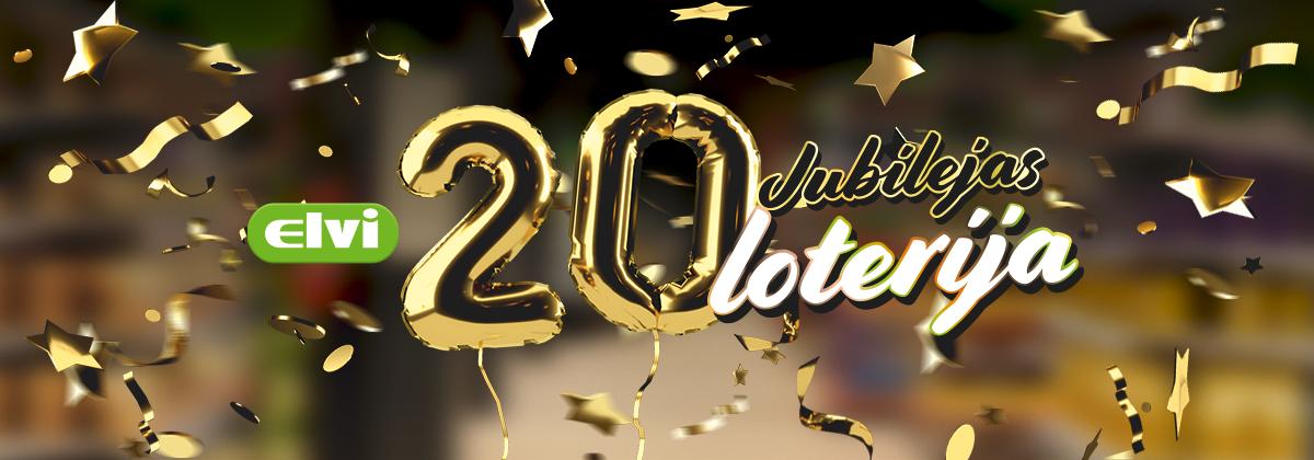 ELVI 20 gadu jubilejas loterija