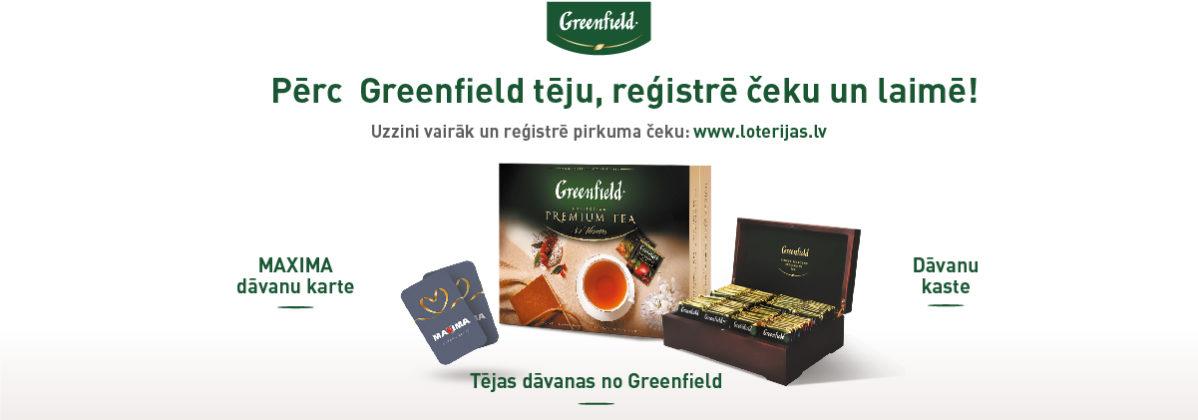 Greenfield loterija veikalos Maxima