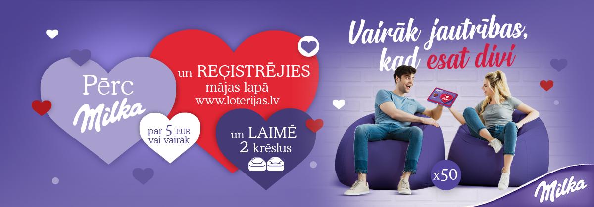 Milka Valentīna dienas loterija veikalu tīklā RIMI
