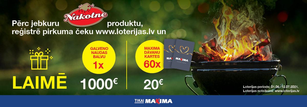 GPU Nākotne vasaras loterija Maxima veikalos