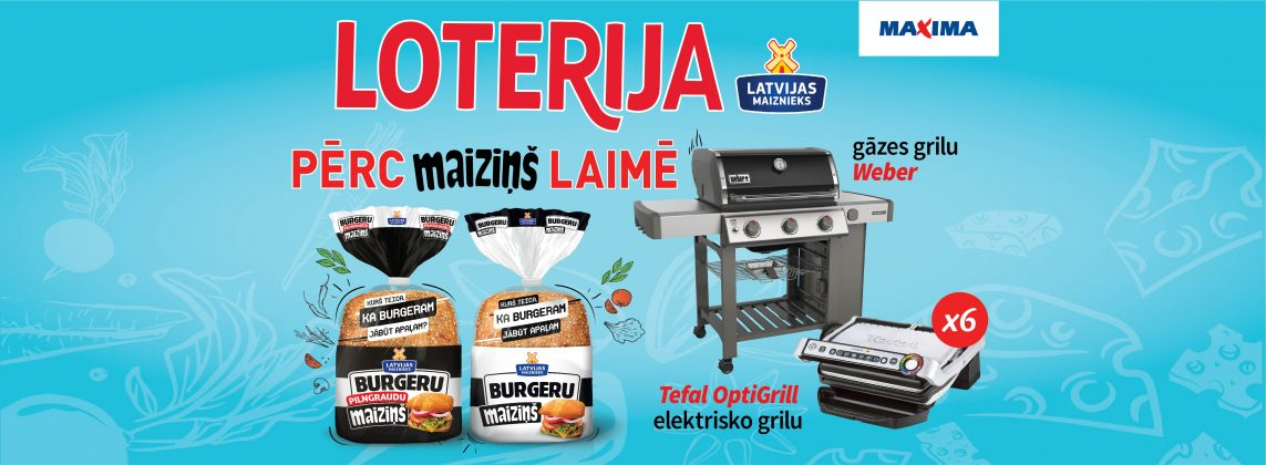 Maiziņš produktu loterija Maxima veikalos