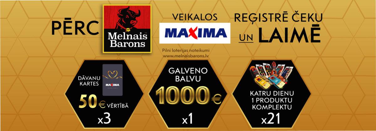 Melnais Barons loterija veikalos Maxima