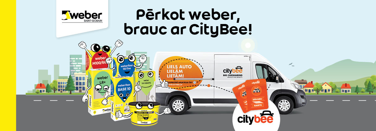 Pērkot Weber, brauc ar CityBee!