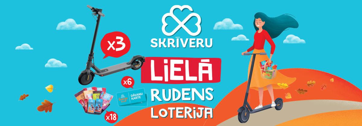 Skrīveru saldumu loterija veikalos Maxima