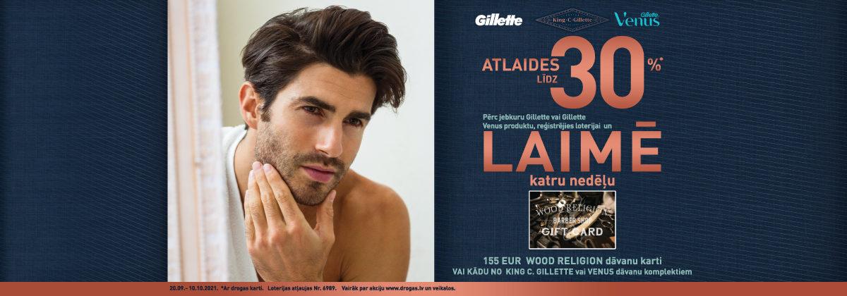 Gillette loterija veikalos Drogas