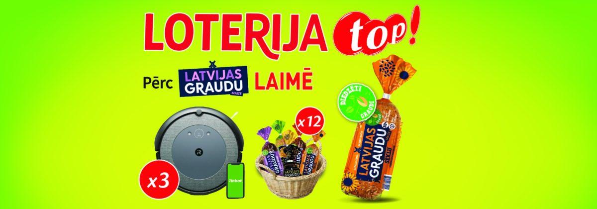 Latvijas Graudu maizes loterija veikalos Top